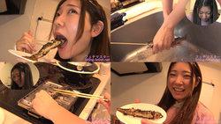 【生き物】堀麻美子ちゃんがイワナを生きたまま串焼きにして食べる!【食事】