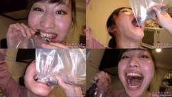 【生き物】小川ひまりちゃんがドジョウ・イワナを生きたまま噛み砕いて食べる!【食事】