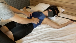 [Tickling] Tickling in a swimsuit ② [18-year-old female college student]