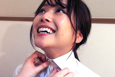 buttoned up challenge woman4 + wet chiharu