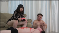 【MistressLand】浮気マゾ男とのプレイを見せつけられる寝取られマゾ彼氏 #004