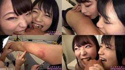 【南梨央奈&川越ゆい】最強ダブル噛みつき! Part1 ~屈強男優への腕・指噛み~